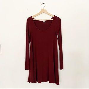 Garage Cotton Long Sleeve Scoop Neck Dress Size XS
